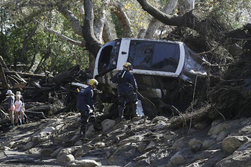 جان باختن ۱۹ نفر در پی رانش زمین در کالیفرنیا