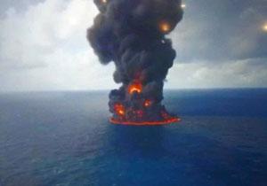 (ویدئو) کشتی سانچی غرق شد