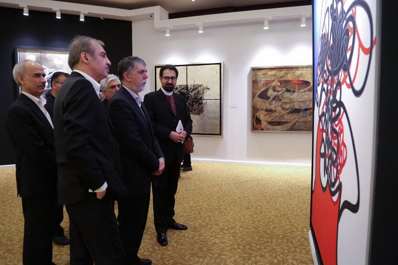 از برانکو تا وزیر فرهنگ و سلبریتی ها در نمایشگاه حراج تهران
