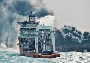 دو سوم نفتکش سانچی زیر آب رفت