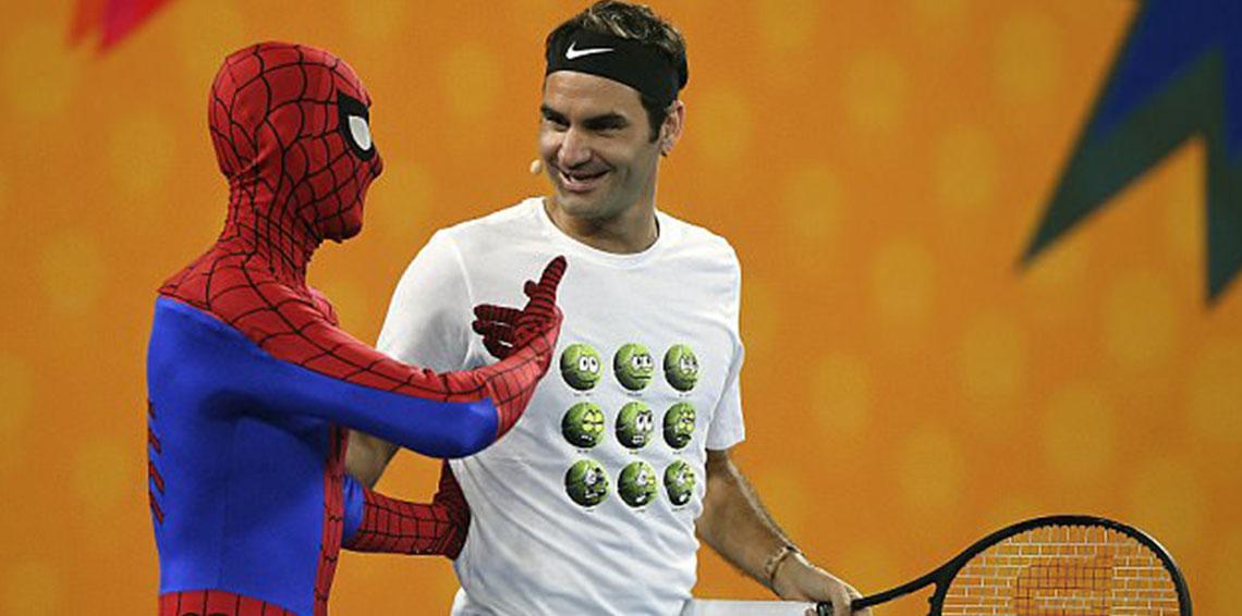 رویارویی اسطوره دنیای تنیس با مردعنکبوتی!+ عکس