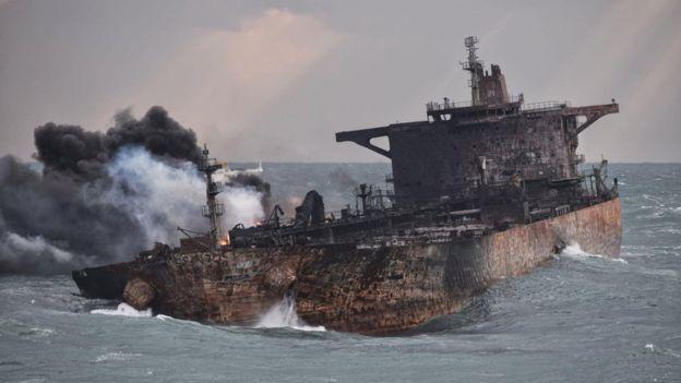 سپاه پاسداران جان باختن کارکنان کشتی نفتکش سانچی را تسلیت گفت