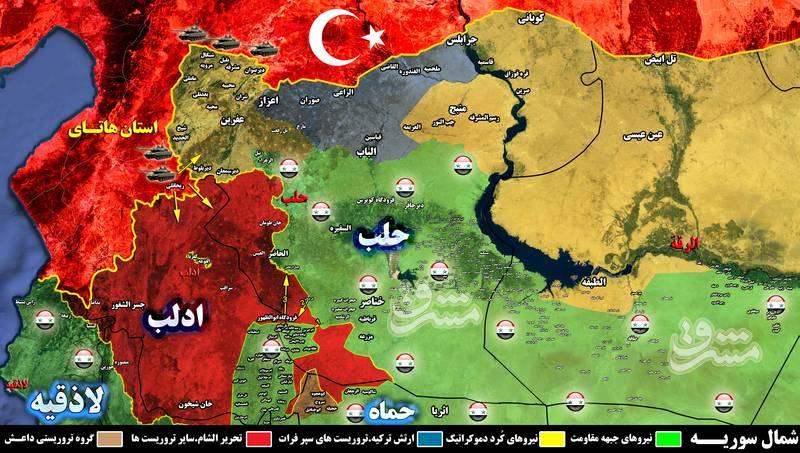 لشکرکشی اردوغان به مناطق مرزی مشترک با سوریه+نقشه میدانی و تصاویر