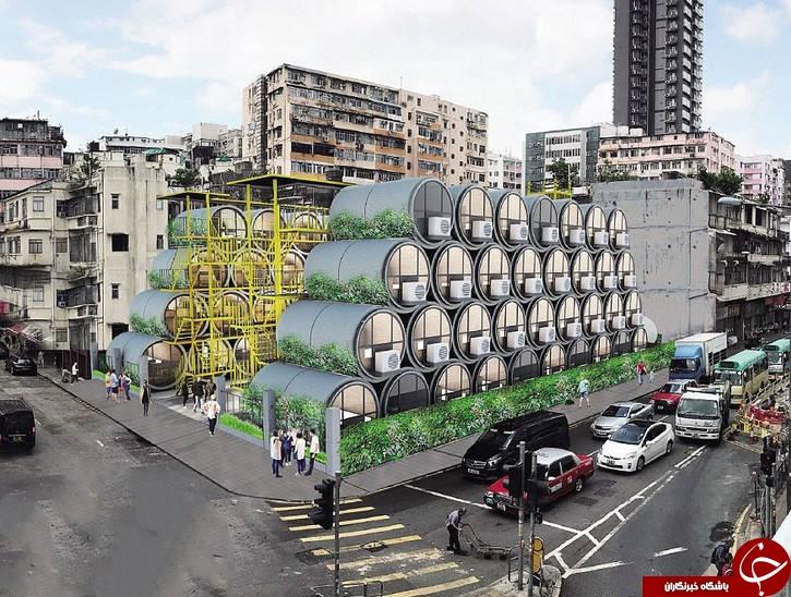 خانههای مجردی عجیب از جنس لولهها سیمانی انتقال آب! +تصاویر