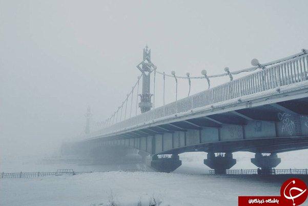 سردرترین دهکده جهان که در آن حتی صورت انسان هم یخ میزند!+تصاویر