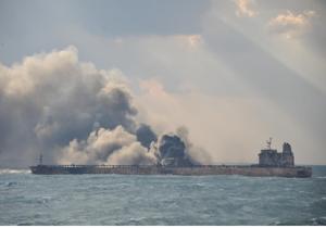 محل قرار گرفتن لاشه نفتکش سانچی شناسایی شد/ اعزام رباتهای زیرآبی چینی به منظور بررسی وضع کشتی