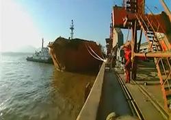 اولین فیلم از کشتی کریستال پس از برخورد با سانچی