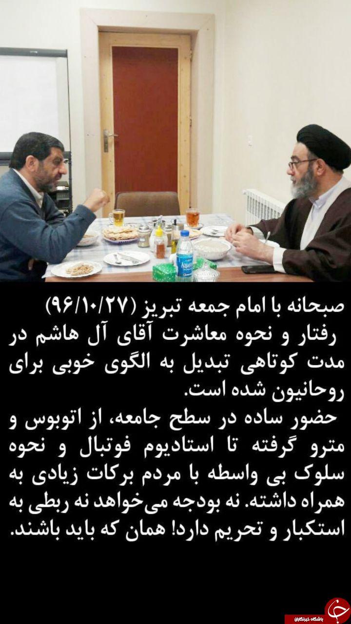 دیدار ضرغامی با امام جمعه تبریز +عکس