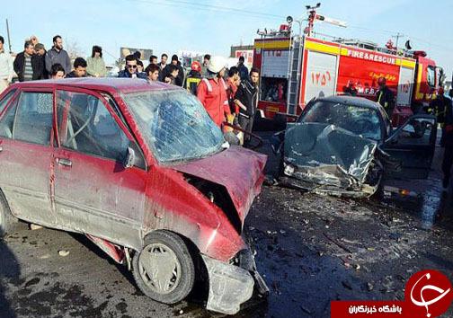 ۵ مجروح در تصادف محور شول آباد الیگودرز +عکس