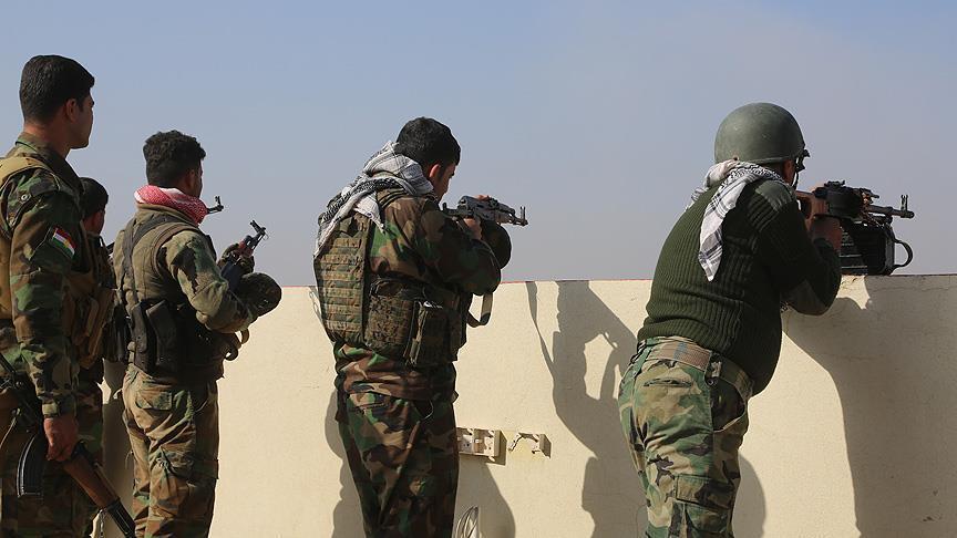 درگیری نیروهای حشدالشعبی با عناصر باقیمانده داعش در شرق تکریت