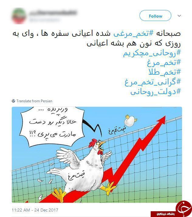 واکنش کابران فضای مجازی به گرانی تخم مرغ! + عکس