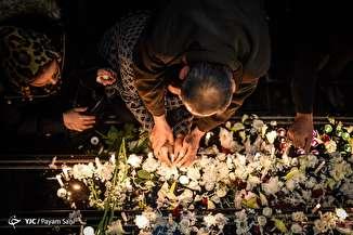مراسم یادبود جانباختگان سانحه کشتی سانچی