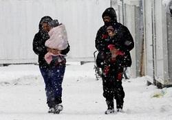 ۱۵ پناهجوی سوری از شدت سرما جان باختند+ عکس