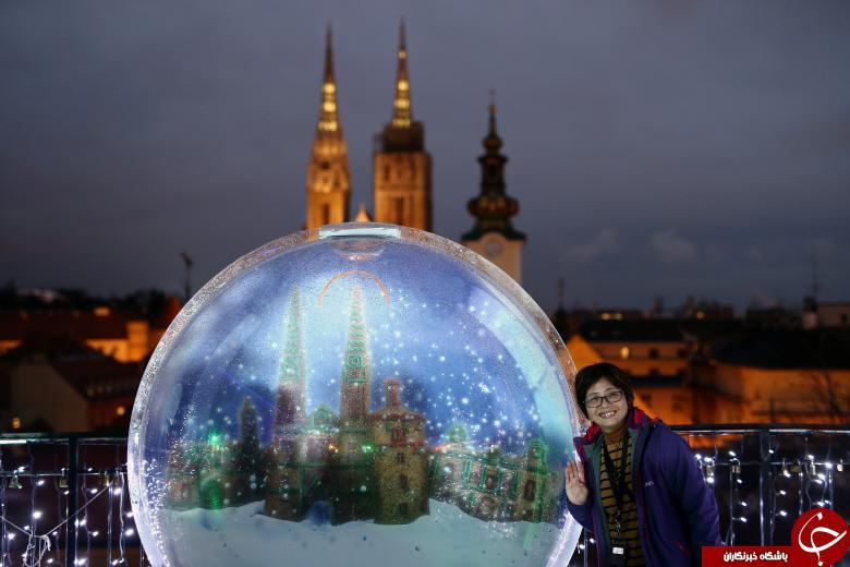 تصاویری جالب و دیدنی از تزیینات کریسمس از پاریس تا بیروت