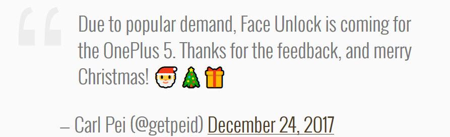 قابلیت تشخیص چهره به OnePlus 5 اضافه خواهد شد