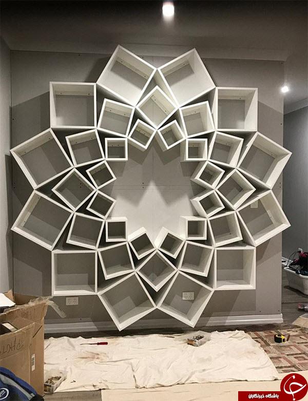 خلاقیت یک زوج در ساخت یک کتابخانه شیک