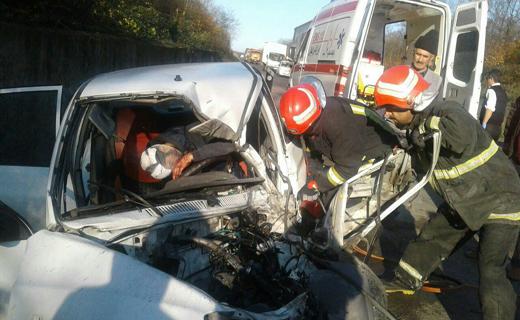 تصادف مرگبار مرگ موتورسوار را رقم زد+تصویر
