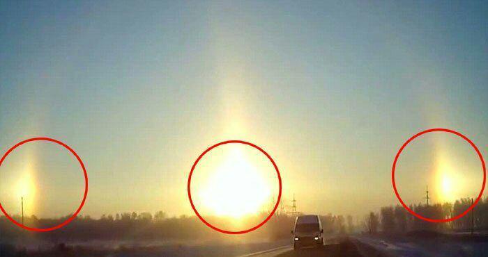 پدیده «ظهور سه خورشید» در آسمان چین+ عکس