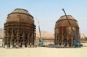 تولید بزرگترین مخازن کروی خاورمیانه در اراک