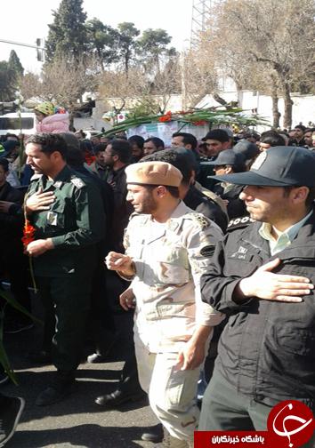 مراسم تشییع پیکر شهید نیروی انتظامی در سومین حرم اهل بیت (ع)