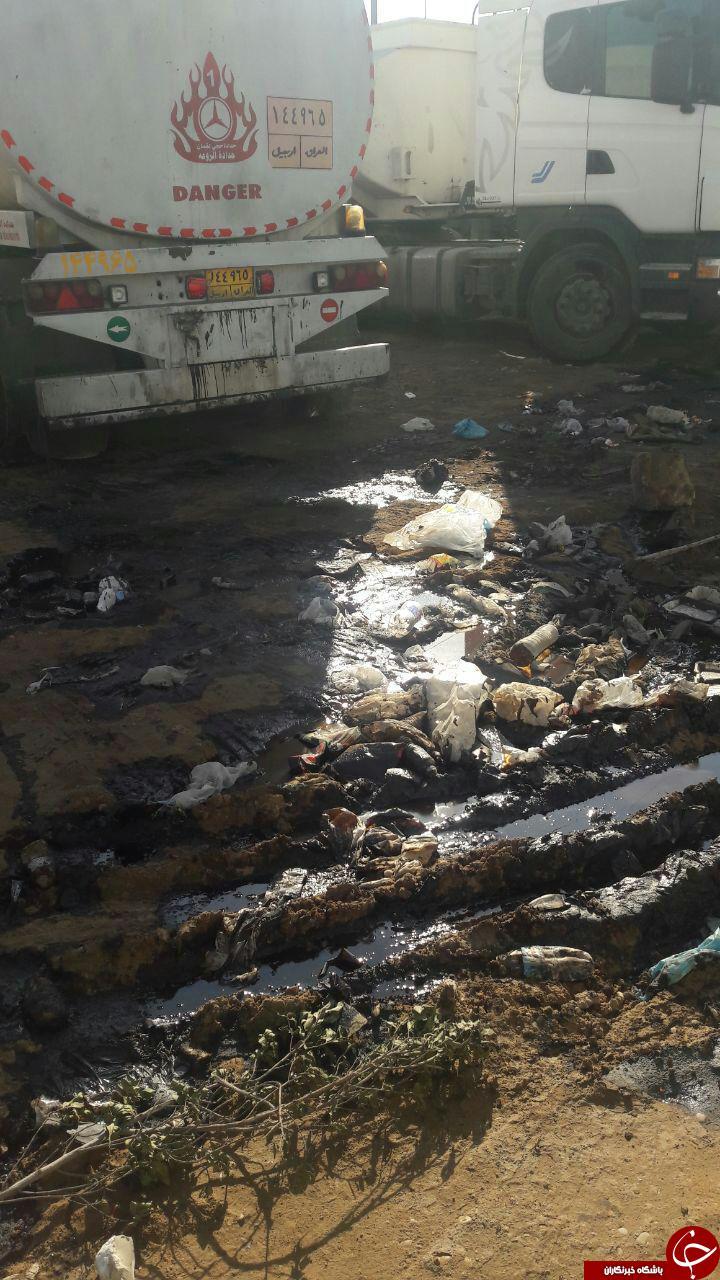 تصاویری از اوضاع نامناسب بهداشت در پایانه بندر امام خمینی (ره)