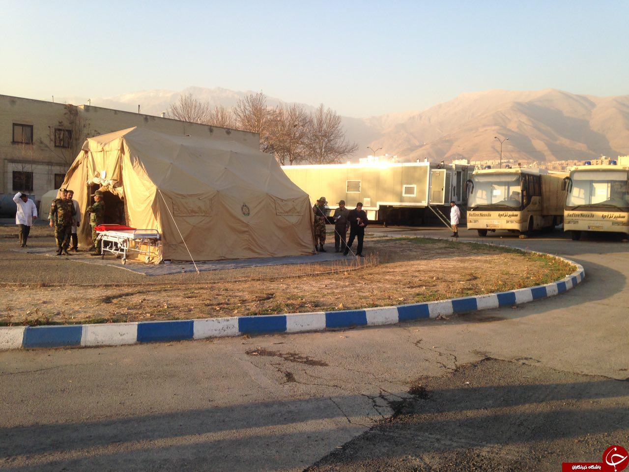 مانور آمادگی امداد، نجات و خدمات پزشكی  اداره بهداشت و درمان نزاجا برگزار شد + تصاویر