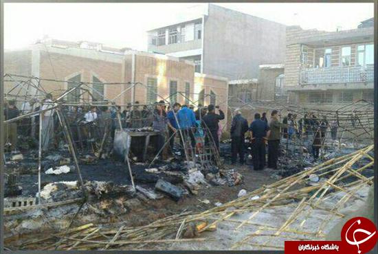 مهار آتش سوزی چادر زلزله زدگان در سرپل ذهاب/حادثه هیچ گونه تلفاتی نداشته است