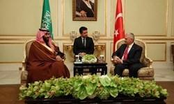 دیدار نخست وزیر ترکیه با ولیعهد و وزیر دفاع عربستان