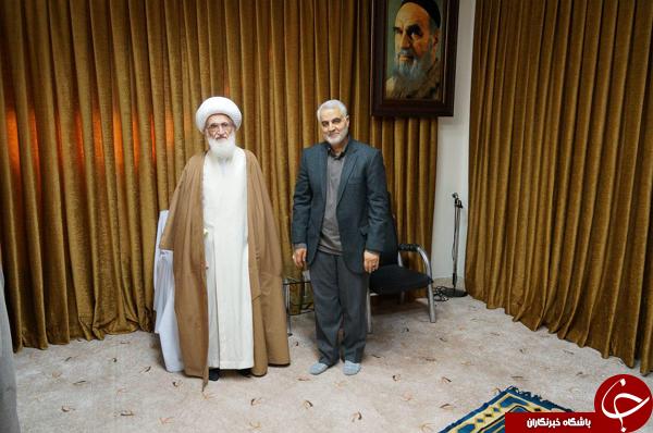 سردار سلیمانی میهمان مراجع قم+تصاویر