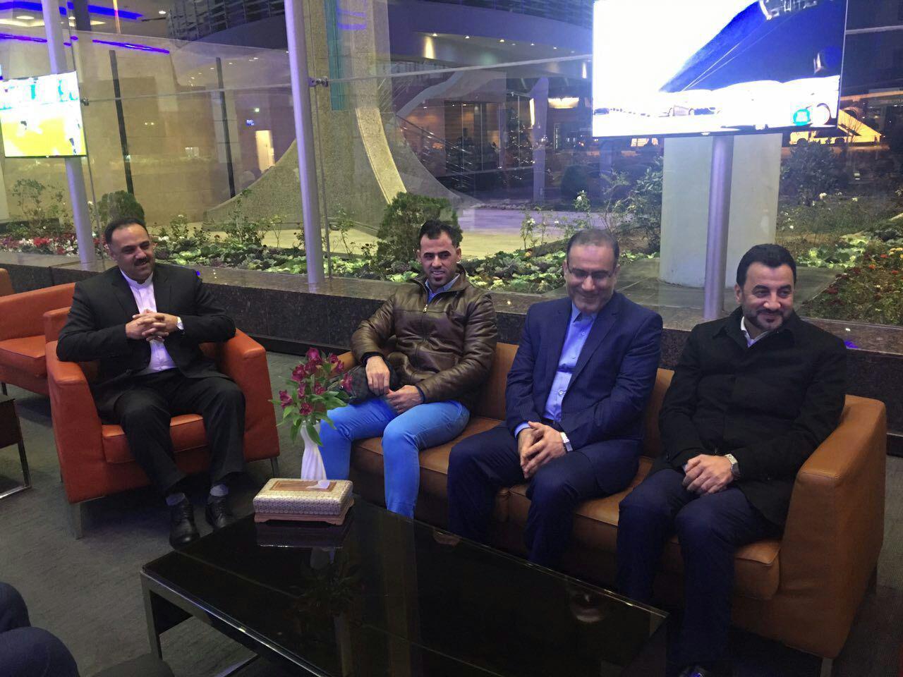 وزیر ورزش و جوانان عراق و هیات همراه وارد تهران شدند