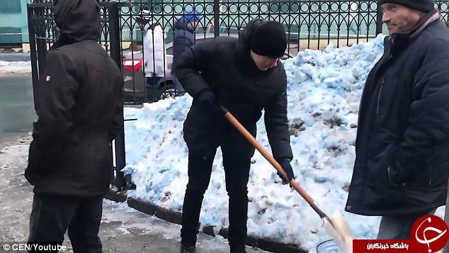 بارش برف آبی رنگ در روسیه!+ تصاویر
