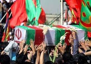 شهید مدافع حرم درآرامگاهش آرام گرفت