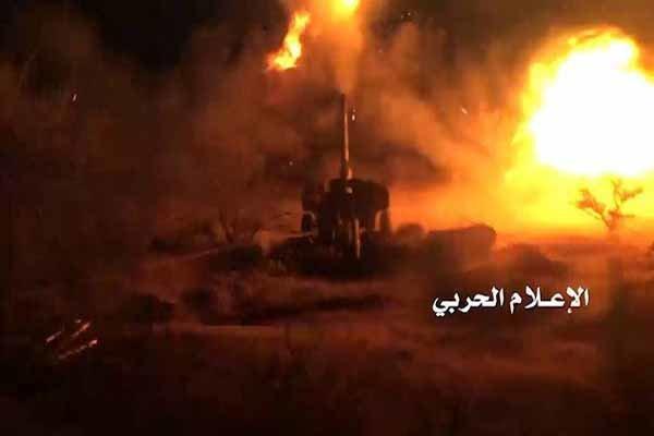 حملات توپخانهای انصارالله به مناطق نجران و جیزان در عربستان