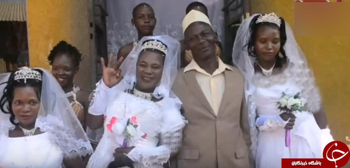 جشن ازدواج مرد 50 ساله با سه عروس در یک روز+تصاویر