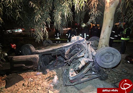 ۳ کشته در حادثه واژگونی خودرو