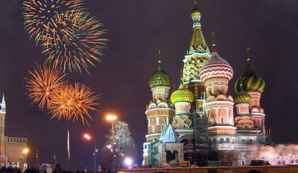 مسکو در آستانه سال نو میلادی + فیلم