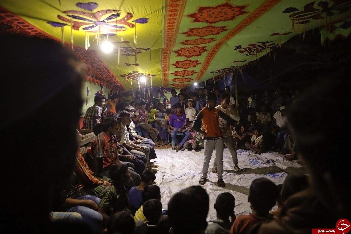 برگزاری مراسم ازدواج یک زوج روهینگیایی در اردوگاه پناهجویان+ تصاویر