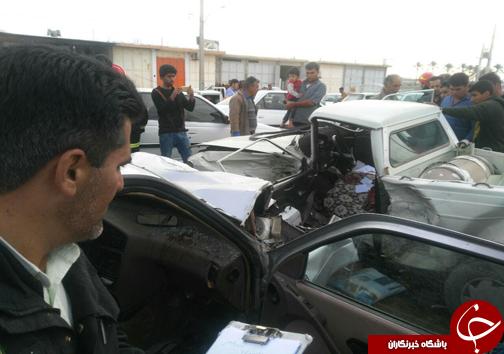 ۷ مصدوم در تصادف ۳ خودرو + تصاویر