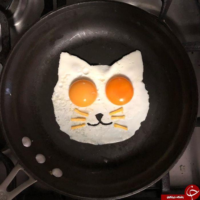 خلاقیت هنرمندانه با تخم مرغ+تصاویر