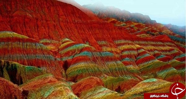 کوه های رنگی زنجان یکی از زیباترین جاذبههای توریستی ایران