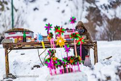 یک روز برفی در همدان