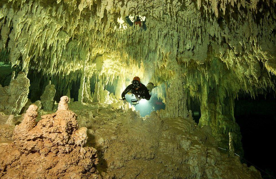 کشف طولانی ترین غار زیر آبی جهان در کشور مکزیک+ عکس ها