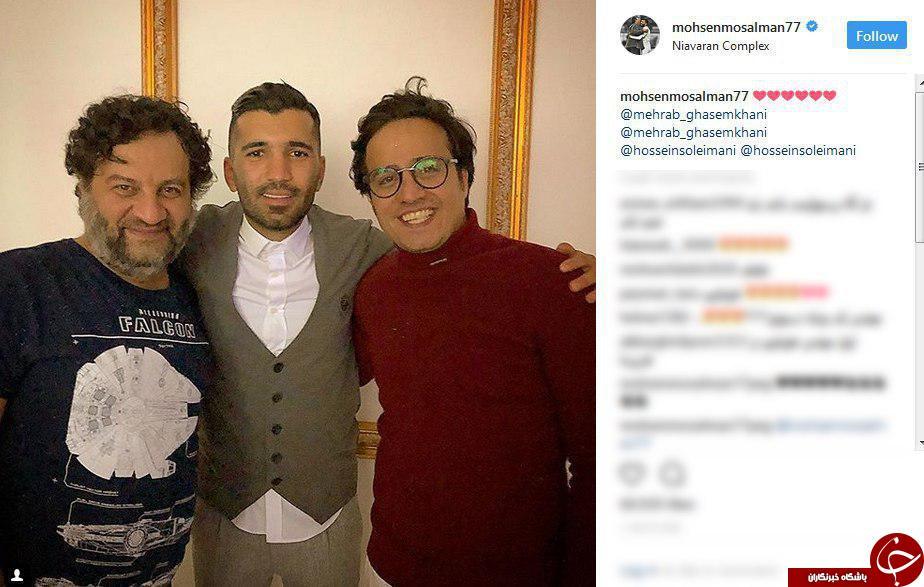 جوانترین گلزن لیگ برتر فوتبال ایران در کنار دو بازیگر