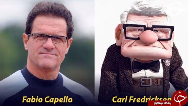 چهرههای شاخص جهان فوتبال با شخصیتهای کارتونی+تصاویر