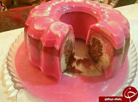 طرز تهیه کیک با روکش ژله
