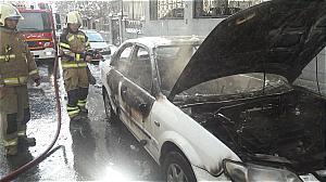 حریق خودرو سواری در بلوار فردوس +عکس