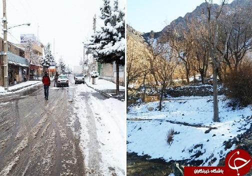 برف پیش بینی نشده در بیرجند+تصاویر