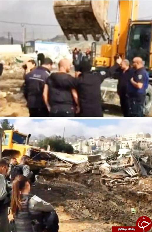 سلفی صهیونیستها با خرابههای یک خانه فلسطینی