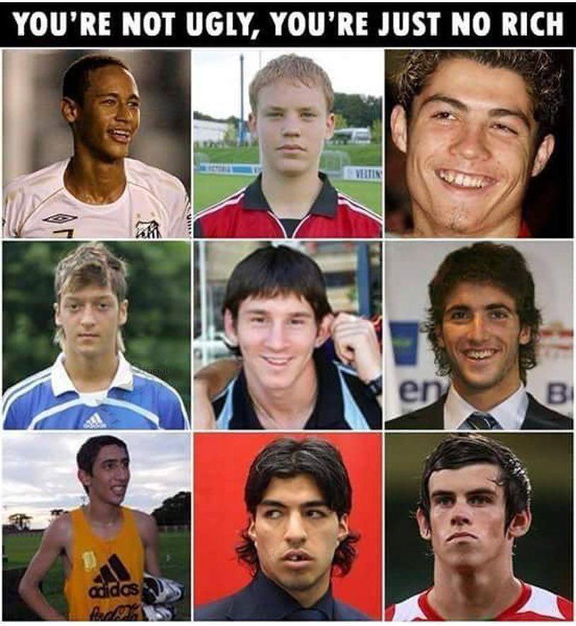 چهره واقعی فوتبالیست ها قبل از پولدارشدن+ عکس