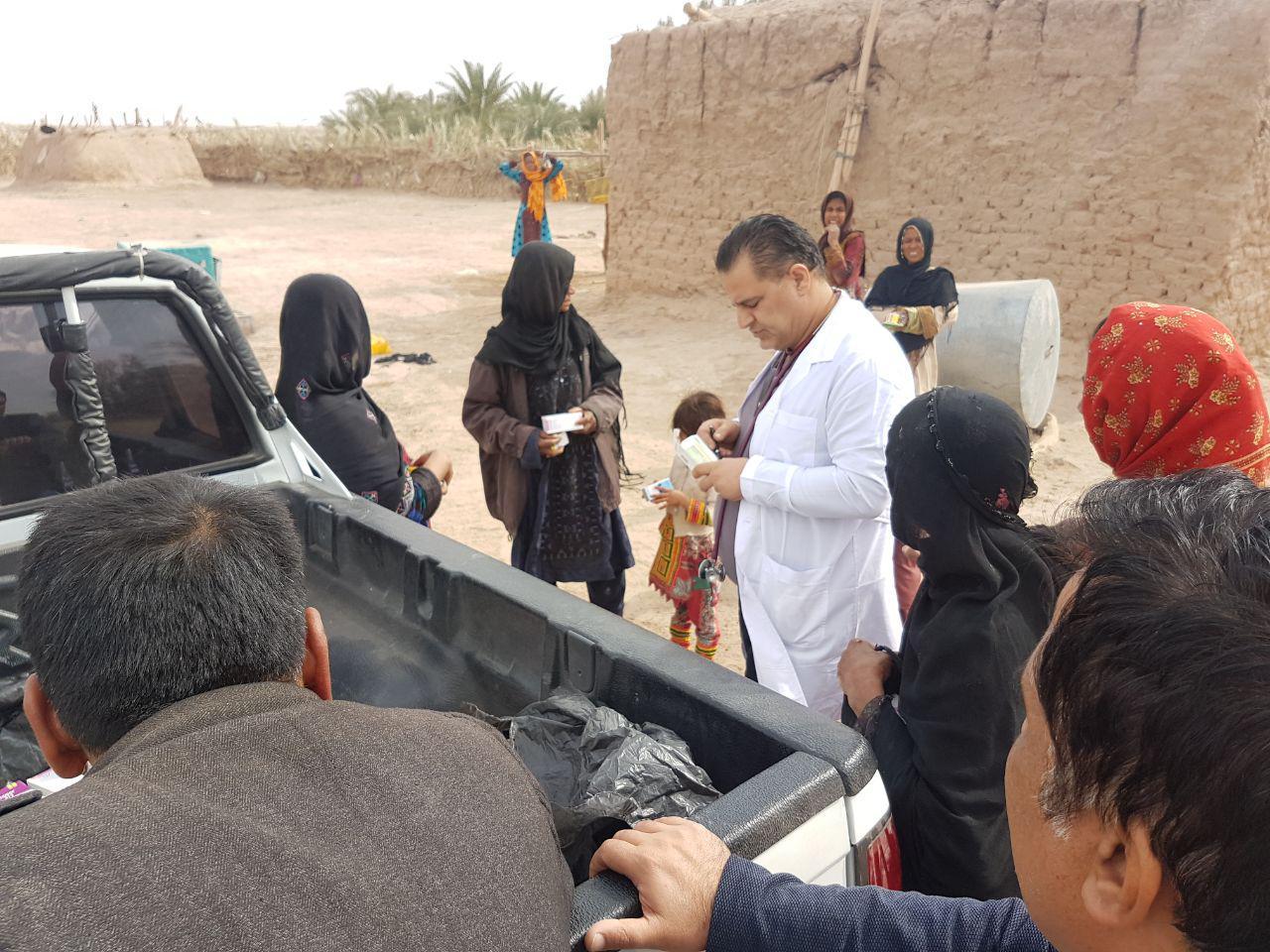 اعزام گروه های درمانی به روستای محروم حسین آباد دامداری ریگان